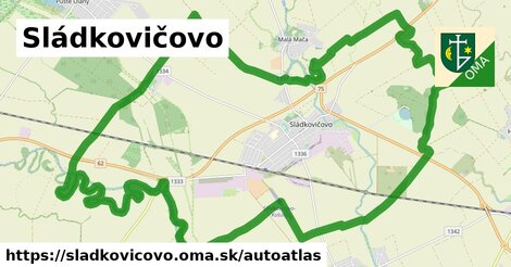 ikona Mapa autoatlas  sladkovicovo