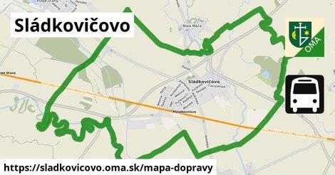 ikona Sládkovičovo: 17km trás mapa-dopravy  sladkovicovo