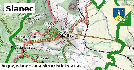 ikona Turistická mapa turisticky-atlas  slanec