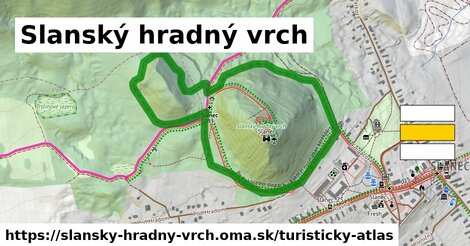 ikona Turistická mapa turisticky-atlas  slansky-hradny-vrch