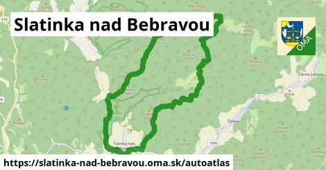 ikona Mapa autoatlas  slatinka-nad-bebravou