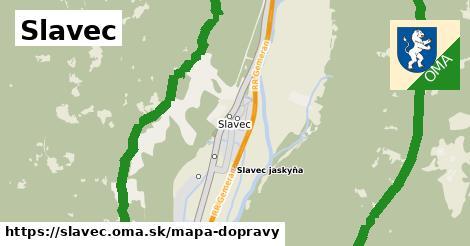 ikona Slavec: 6,2km trás mapa-dopravy  slavec