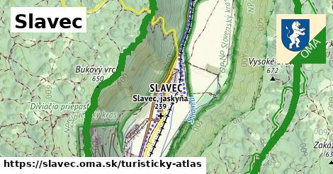 ikona Turistická mapa turisticky-atlas  slavec