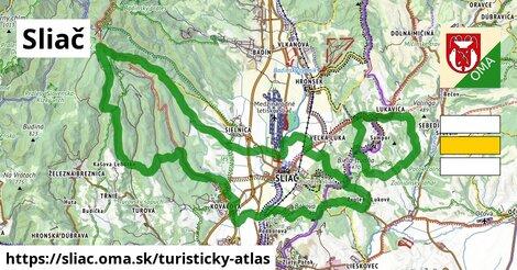 ikona Turistická mapa turisticky-atlas  sliac