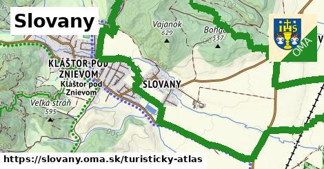 ikona Turistická mapa turisticky-atlas  slovany
