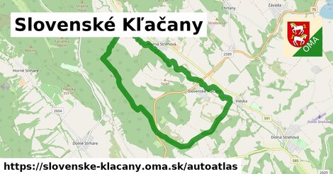 ikona Mapa autoatlas  slovenske-klacany