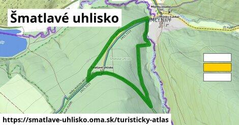 ikona Šmatlavé uhlisko: 0,95km trás turisticky-atlas  smatlave-uhlisko