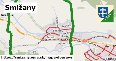 ikona Smižany: 99km trás mapa-dopravy  smizany
