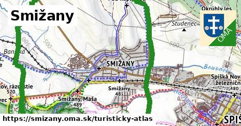 ikona Turistická mapa turisticky-atlas  smizany
