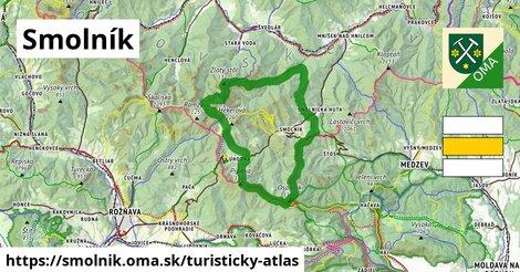 ikona Turistická mapa turisticky-atlas  smolnik