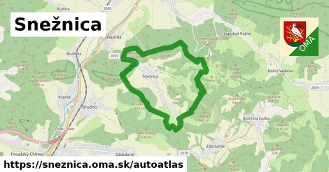 ikona Mapa autoatlas  sneznica