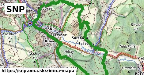 ikona SNP: 1,19km trás zimna-mapa  snp