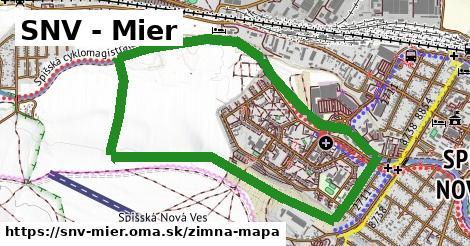 ikona SNV - Mier: 0m trás zimna-mapa  snv-mier
