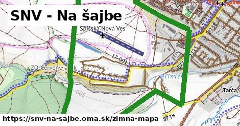 ikona SNV - Na šajbe: 2,3km trás zimna-mapa v snv-na-sajbe