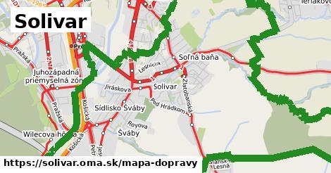 ikona Solivar: 90km trás mapa-dopravy  solivar