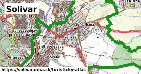ikona Solivar: 9,1km trás turisticky-atlas  solivar