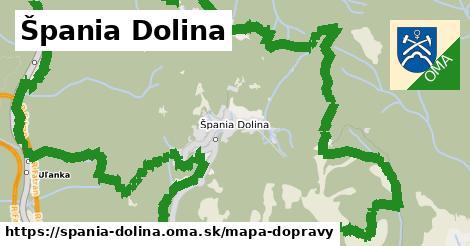 ikona Špania Dolina: 0,73km trás mapa-dopravy  spania-dolina
