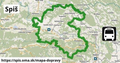 ikona Spiš: 1095km trás mapa-dopravy  spis