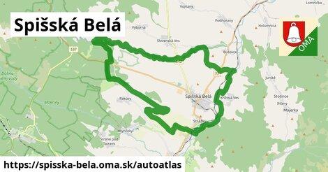 ikona Mapa autoatlas  spisska-bela