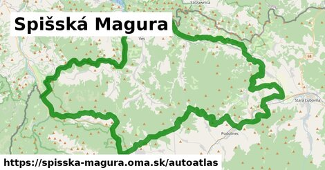 ikona Mapa autoatlas  spisska-magura
