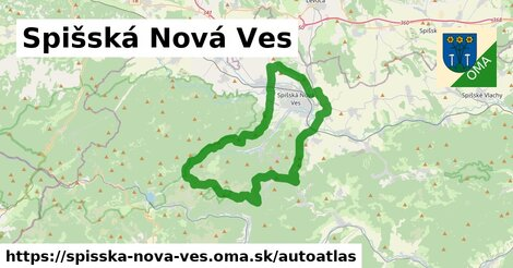 ikona Mapa autoatlas  spisska-nova-ves