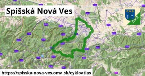 ikona Spišská Nová Ves: 53km trás cykloatlas  spisska-nova-ves