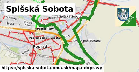 ikona Spišská Sobota: 66km trás mapa-dopravy v spisska-sobota
