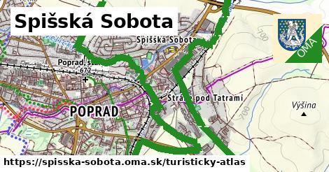 ikona Spišská Sobota: 675m trás turisticky-atlas v spisska-sobota