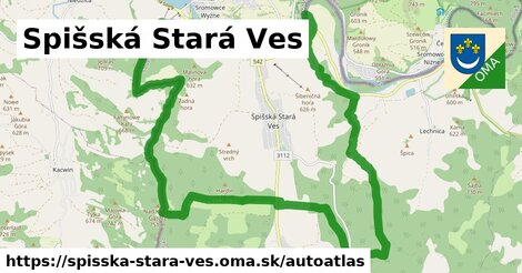 ikona Mapa autoatlas  spisska-stara-ves