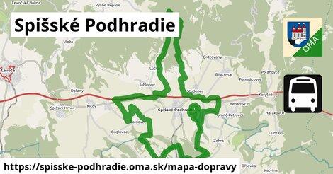 ikona Spišské Podhradie: 12,1km trás mapa-dopravy v spisske-podhradie