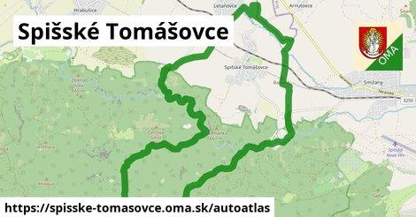 ikona Mapa autoatlas  spisske-tomasovce