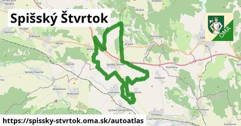 ikona Mapa autoatlas  spissky-stvrtok