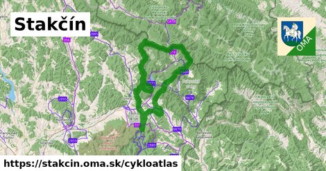 ikona Stakčín: 78km trás cykloatlas  stakcin