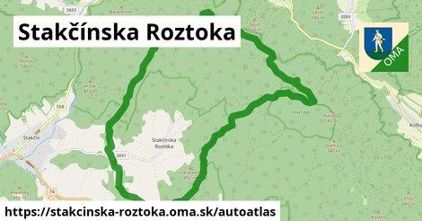 ikona Mapa autoatlas  stakcinska-roztoka