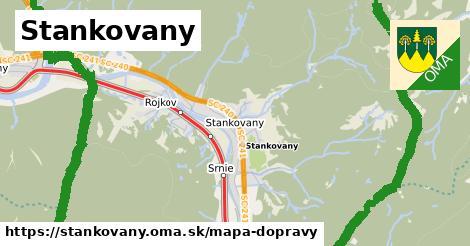 ikona Stankovany: 10,0km trás mapa-dopravy  stankovany