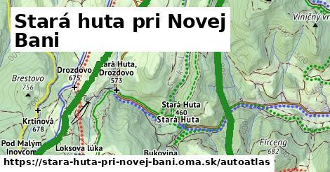 ikona Mapa autoatlas  stara-huta-pri-novej-bani