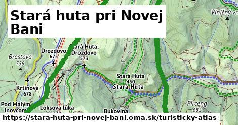 ikona Stará huta pri Novej Bani: 0m trás turisticky-atlas v stara-huta-pri-novej-bani