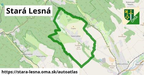 ikona Mapa autoatlas  stara-lesna