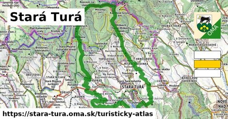 ikona Stará Turá: 28km trás turisticky-atlas  stara-tura
