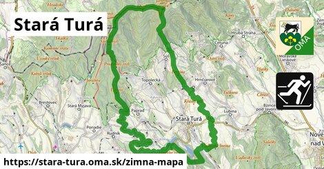 ikona Stará Turá: 2,9km trás zimna-mapa  stara-tura
