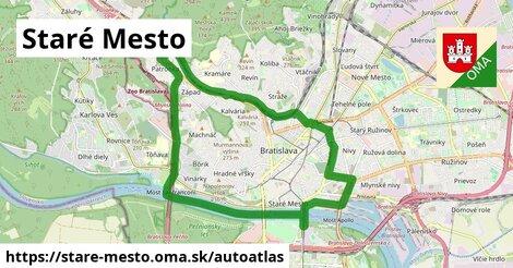 ikona Mapa autoatlas  stare-mesto