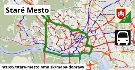 ikona Staré Mesto: 607km trás mapa-dopravy  stare-mesto