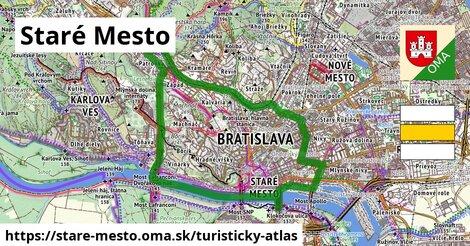 ikona Staré Mesto: 14,3km trás turisticky-atlas  stare-mesto