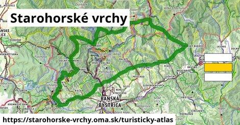 ikona Starohorské vrchy: 218km trás turisticky-atlas  starohorske-vrchy