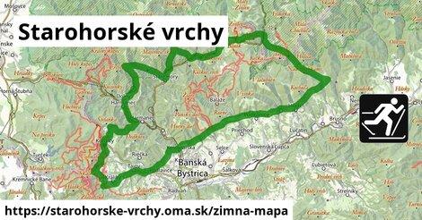 ikona Starohorské vrchy: 73km trás zimna-mapa  starohorske-vrchy