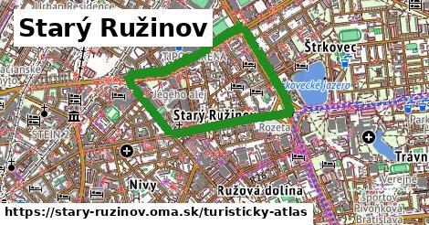 ikona Starý Ružinov: 0m trás turisticky-atlas  stary-ruzinov