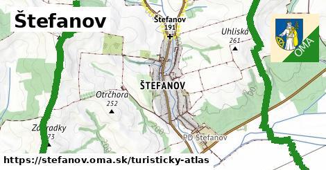 ikona Štefanov: 0m trás turisticky-atlas v stefanov