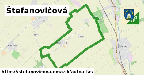 ikona Mapa autoatlas  stefanovicova