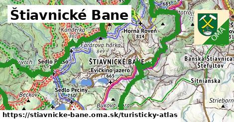 ikona Štiavnické Bane: 22km trás turisticky-atlas  stiavnicke-bane