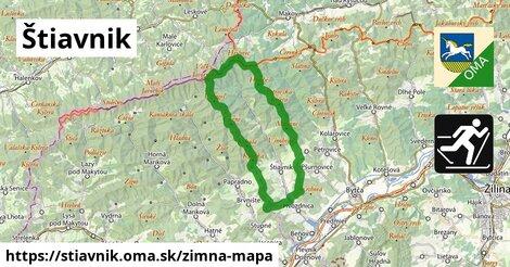 ikona Štiavnik: 3,9km trás zimna-mapa  stiavnik